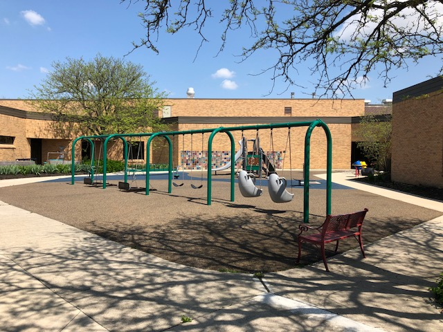 West Central School Courtyard Swings