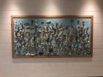 Seahorse wall artwork