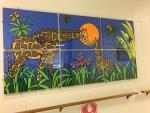 Giraffe on wall artwork